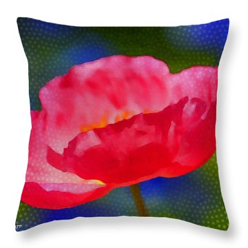 Poppy Series - Touch Throw Pillow by Moon Stumpp