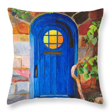 Throw Pillow featuring the painting Portal by Rodney Campbell