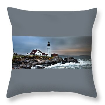 Portland Head Lighthouse 1 Throw Pillow by Glenn Gordon