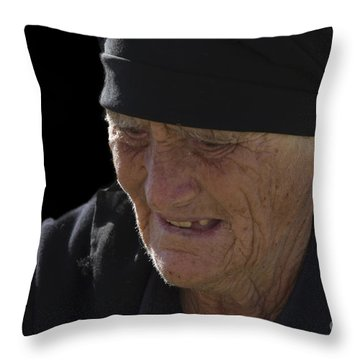 Portrait Of A Fishermans Wife Throw Pillow by Heiko Koehrer-Wagner