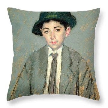 Portrait Of Charles Dikran Kelekian Throw Pillow by Mary Stevenson Cassatt