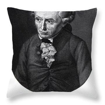 Portrait Of Emmanuel Kant  Throw Pillow by German School