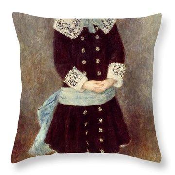 Portrait Of Martha Berard Throw Pillow by Pierre-Auguste Renoir