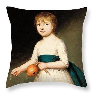 Portrait Of Thomas Allason Throw Pillow by Francis Alleyne