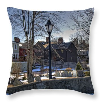 Portsmouth Winter Throw Pillow by Joann Vitali