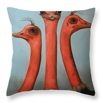 Posers 2 Throw Pillow by Leah Saulnier The Painting Maniac