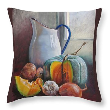 Potential Pumpkin Soup Throw Pillow by Lynda Robinson