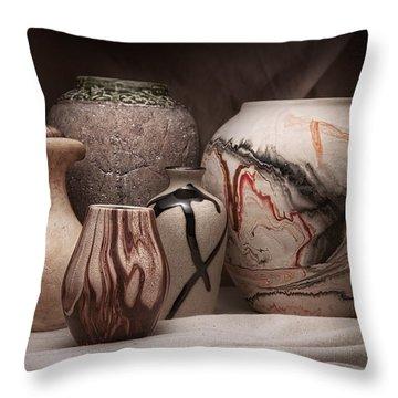Pottery Still Life Throw Pillow by Tom Mc Nemar