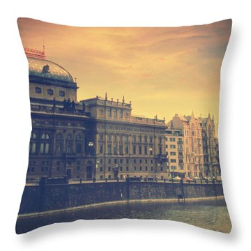 Prague Days Throw Pillow by Taylan Soyturk