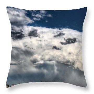 Prairie Storm Clouds Throw Pillow by Mark Duffy