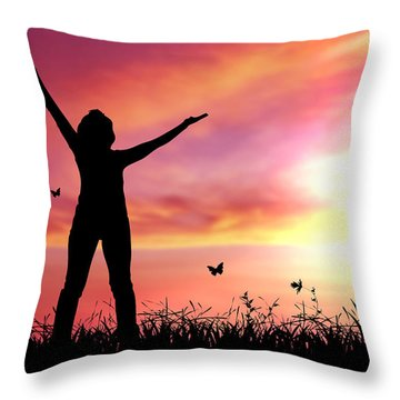 Praise The Lord Throw Pillow by Aged Pixel