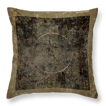 Prayer Flag 202 Throw Pillow by Carol Leigh