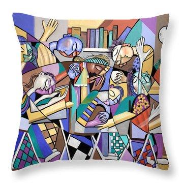Prayer In School Throw Pillow by Anthony Falbo