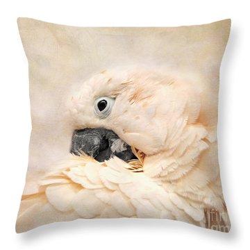 Preening Throw Pillow by Jai Johnson