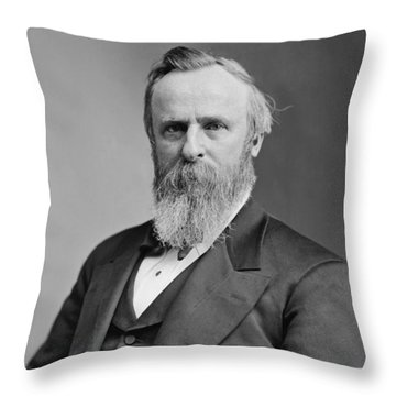 President Rutherford Hayes Throw Pillow by War Is Hell Store