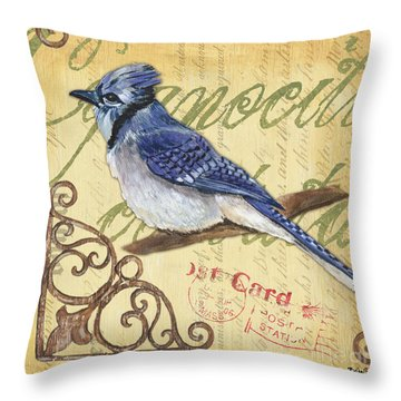 Pretty Bird 4 Throw Pillow by Debbie DeWitt