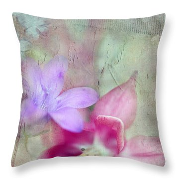 Pretty Flowers Throw Pillow by Annie Snel