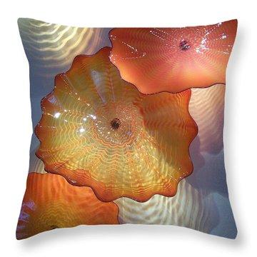 Pretty Glass Throw Pillow by Eunice Miller