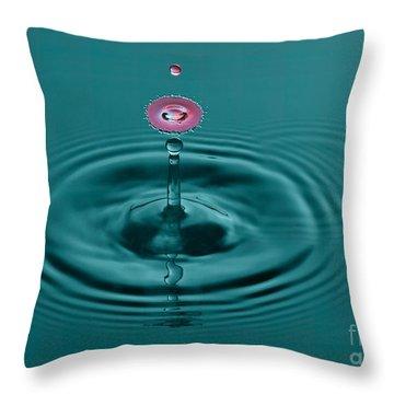 Pretty Liquid Pink Hat Throw Pillow by Susan Candelario