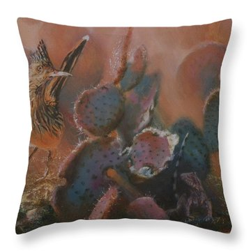 Prickly Situation Throw Pillow by Mia DeLode
