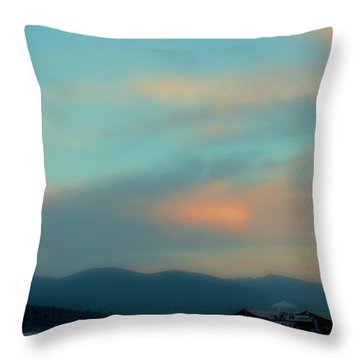 Priest Lake At Dusk II Throw Pillow by David Patterson