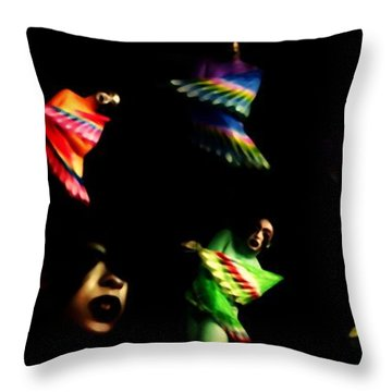 Primitive Guise Throw Pillow by Jessica Shelton