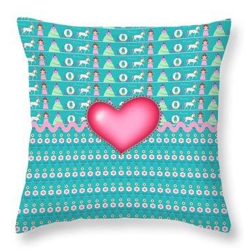 Princess Throw Pillow by Debra  Miller