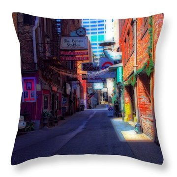 Printers Alley Nashville Tennessee Throw Pillow by Dan Sproul