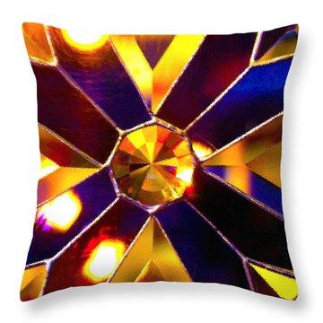 Prism Glass Spectrum Throw Pillow by Karon Melillo DeVega