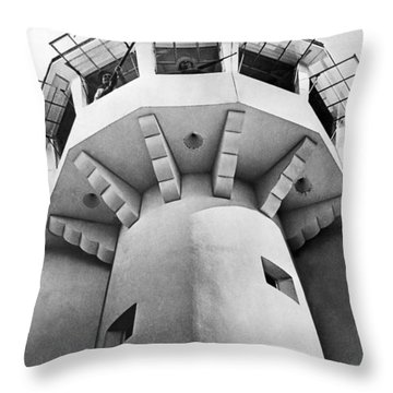 Prison Guard Tower Throw Pillow by Underwood Archives