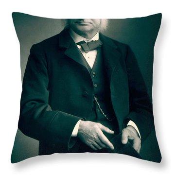 Professor Thomas H Huxley Throw Pillow by Stanislaus Walery