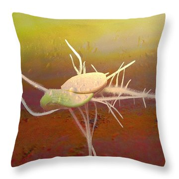 Programmed To Be Throw Pillow by Shirley Sirois