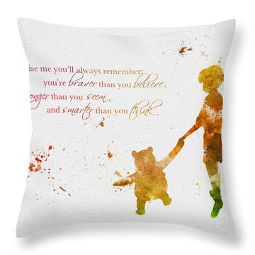 Promise Me You'll Always Remember Throw Pillow by Rebecca Jenkins
