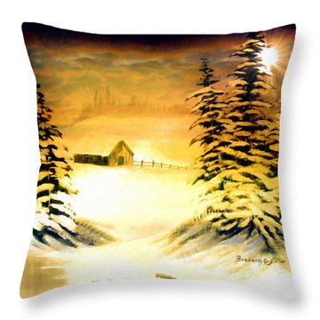 Promises Of A Brighter Day Throw Pillow by Barbara Griffin