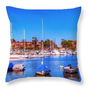 Promontory Point - Newport Beach Throw Pillow by Jim Carrell