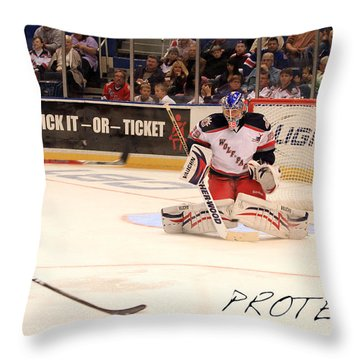 Protect Throw Pillow by Karol Livote