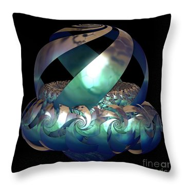 Protected Nest Amongst Waves Throw Pillow by Sara  Raber