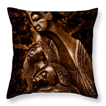 Protecting The Future Of My Children Throw Pillow by Venetta Archer