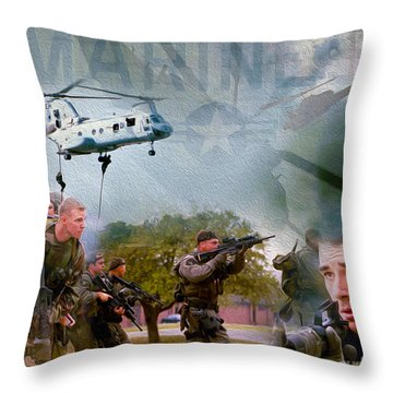 Proud To Serve Throw Pillow by Jon Neidert