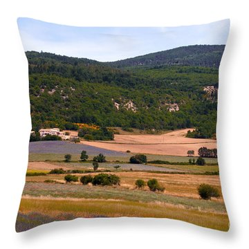 Provence Landscape Throw Pillow by Bob Phillips