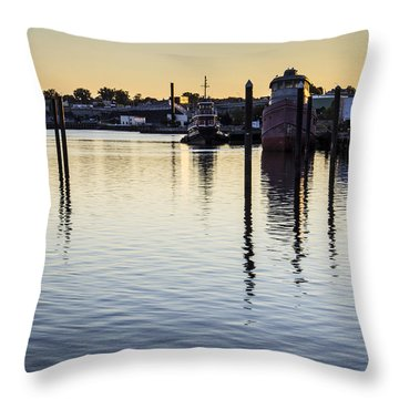 Providence Waterfront Throw Pillow by Andrew Pacheco