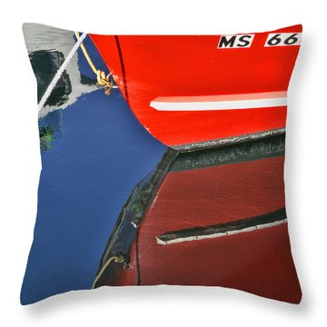 Provincetown Harbor Reflection Throw Pillow by Allen Beatty