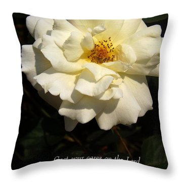 Psalm 55 22 Throw Pillow by Sara  Raber
