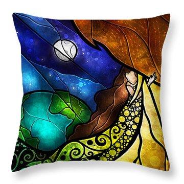 Psalm 91-4 Throw Pillow by Mandie Manzano