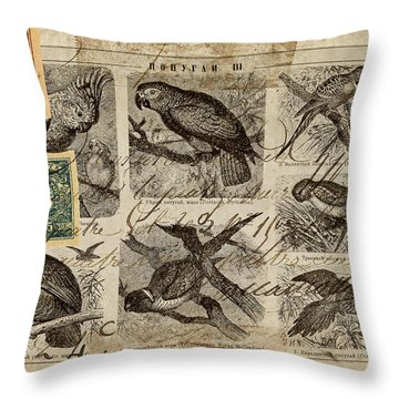 Psittacus Throw Pillow by Carol Leigh