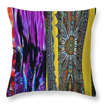 Psychedelic Dresses Throw Pillow by Frozen in Time Fine Art Photography