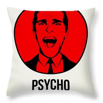 Psycho Poster 2 Throw Pillow by Naxart Studio