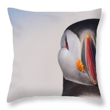 Puffin Mug Shot Throw Pillow by Bruce J Robinson