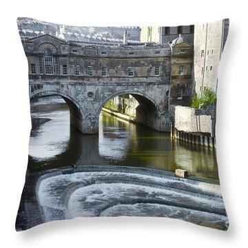 Pulleney Bridge Throw Pillow by Bob Phillips