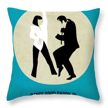 Pulp Fiction Poster 2 Throw Pillow by Naxart Studio